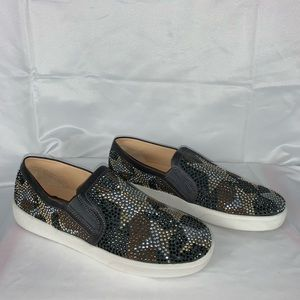 (Like New) Vince Camuto slip on sparkly sneakers